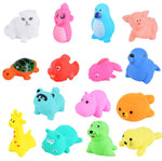 13 Pcs Cute Animals Swimming Water Toys with Colorful Soft Rubber - systematicshop.com