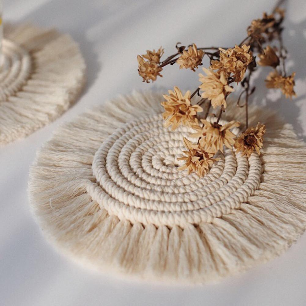 Macrame Cup Pad Bohemian Tablecloth/Table Mat - systematicshop.com