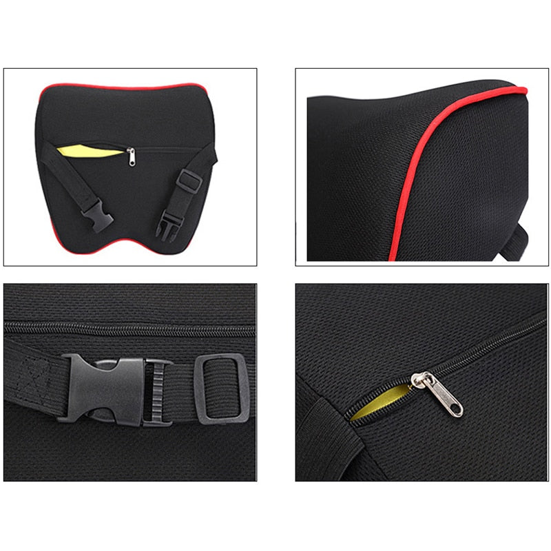 Car Neck Headrest Pillow Car Accessories Cushion Auto Seat Head Support - systematicshop.com