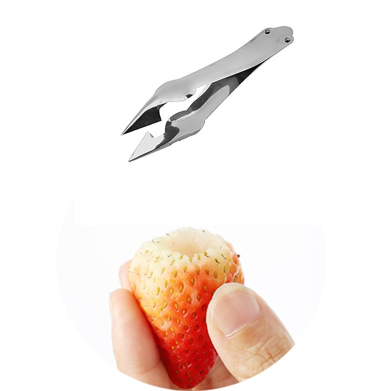 Stainless Steel Strawberry Huller Fruit Peeler Pineapple Corer Slicer - systematicshop.com