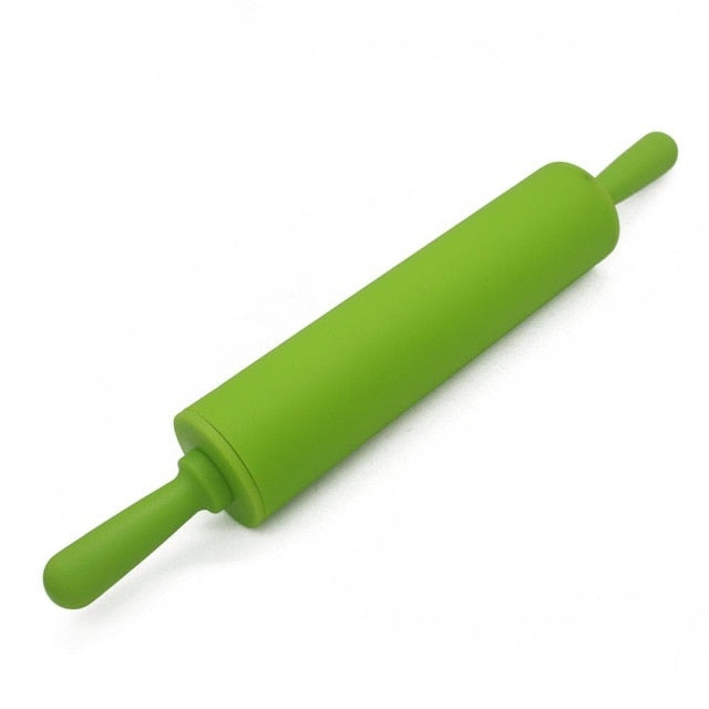 Silicone Dough Roller Middle Size Rolling Pin Colorful Pastry Tool - systematicshop.com