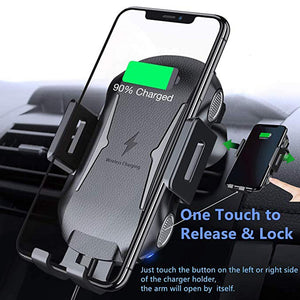 Automatic Clamping Fast Charging Car Phone Holder