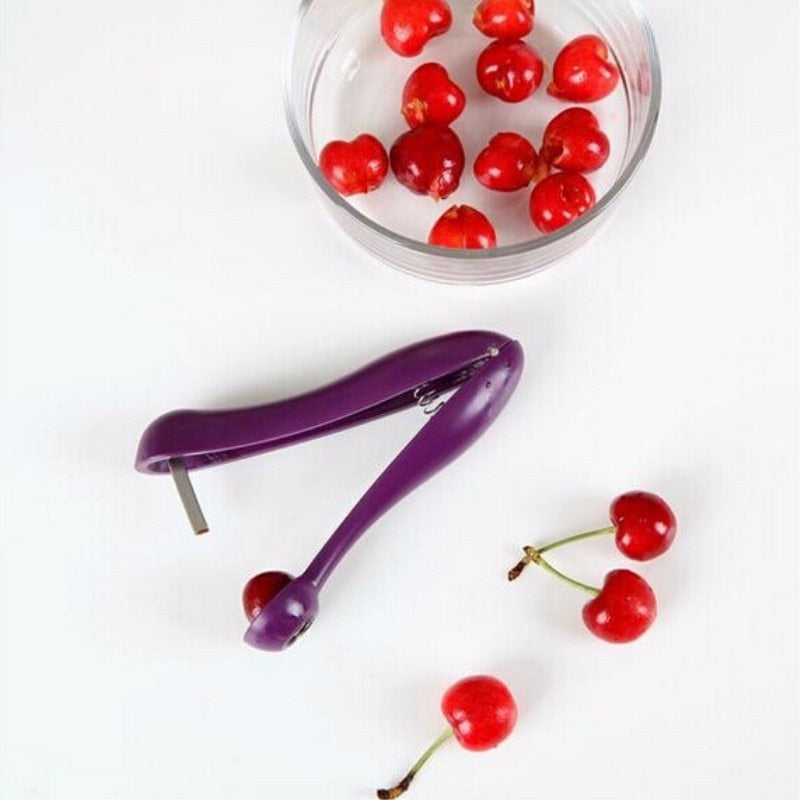 New Cherry Pitter Plastic Tool - Fast Remove Cherry Core Seed - systematicshop.com