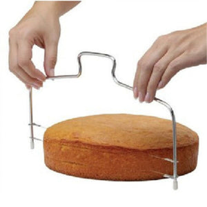 Stainless Steel Adjustable Wire Cake Cutter Slicer Leveler DIY Cake Baking Tool - systematicshop.com
