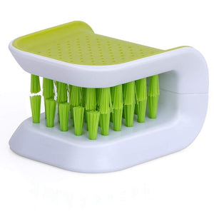 Forks and Knives Brush Cutlery Sponge Kitchen Non-Slip Scrub - systematicshop.com
