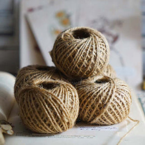 30M Natural Burlap Hessian Jute Twine Cord Hemp Rope String - systematicshop.com