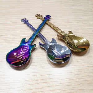 1pcs Stainless Steel Guitar Shaped Coffee Spoon - systematicshop.com