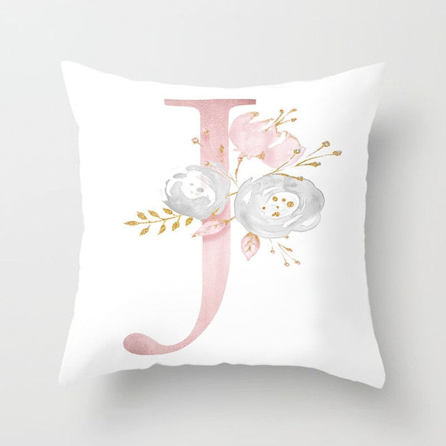 Pink Letter Decorative Pillow Cushion Covers Pillowcase