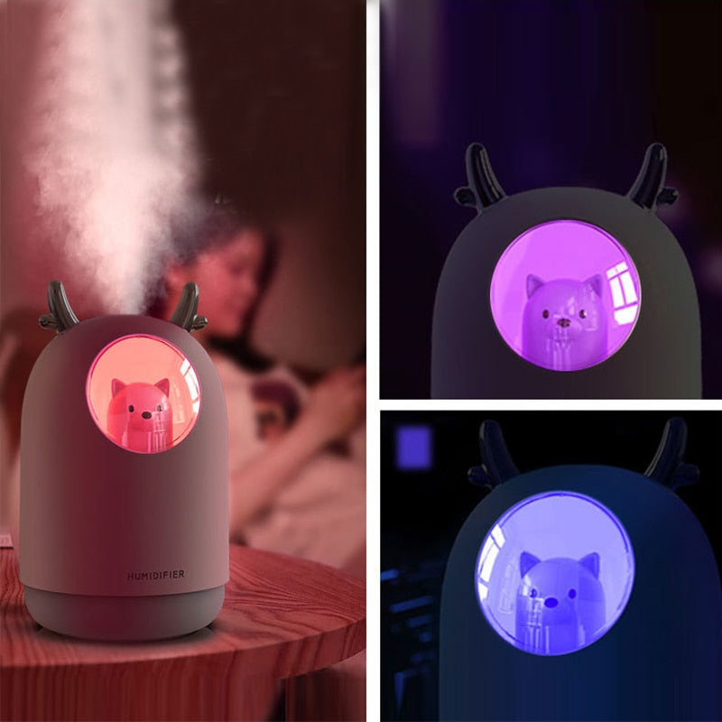 USB Humidifier 300ml Cute Pet Ultrasonic