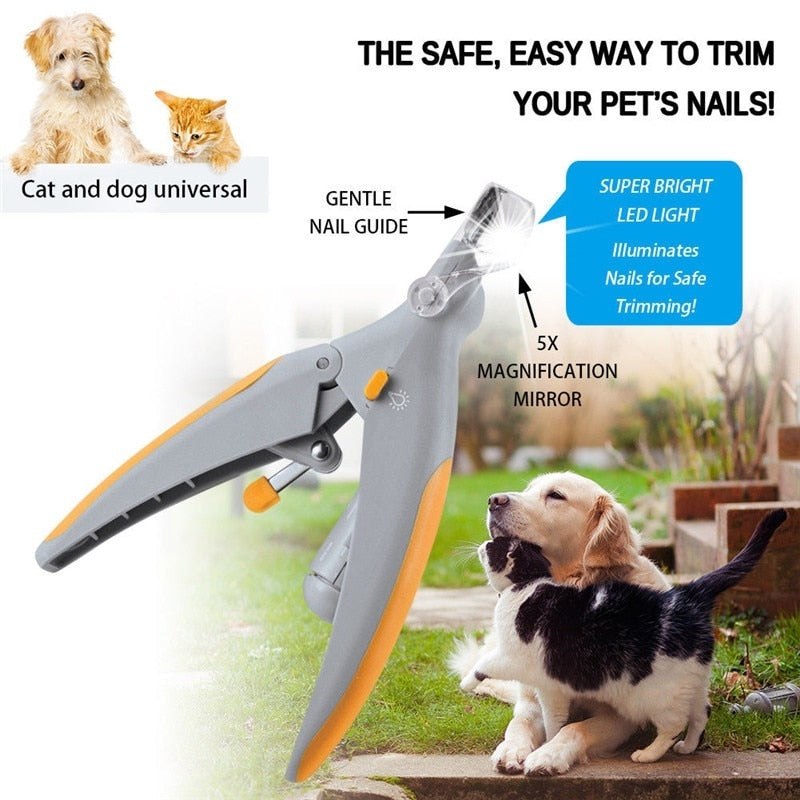 Pet Dog Cat Nail Clippers Trimmer With LED Light Grooming - systematicshop.com