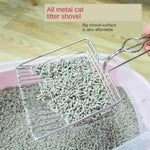Metal Cat Litter Scoop Hollow Pet Cat Toilet Scooper with Long Handle - systematicshop.com