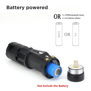 LED UV Flashlight Ultraviolet Torch With Zoom Function