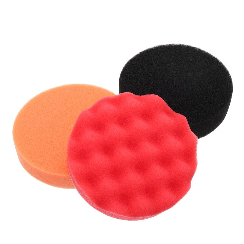 12pcs Car Buffing Sponge Polishing Waxing Pads Kit - systematicshop.com
