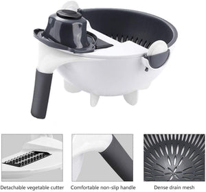 9 In 1 Upgraded Vegetable Cutter Rotate With Drain Basket - systematicshop.com