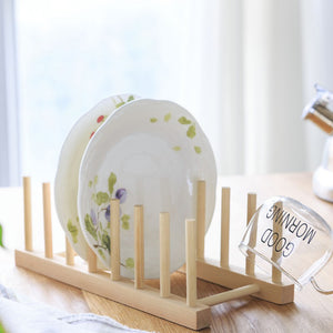Kitchen Wooden Dish Drain Rack