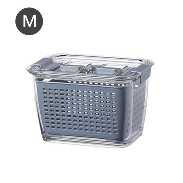 Multifunctional Storage Box Kitchen Refrigerator Fresh-Keeping Drain Basket - systematicshop.com