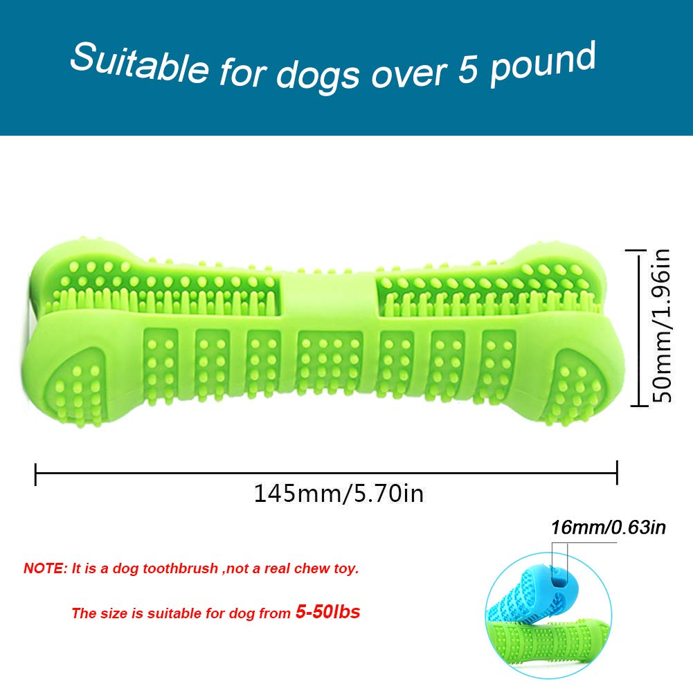Pet Dog Toothbrush Chew Toys Nontoxic Natural Rubber Dental Care - systematicshop.com