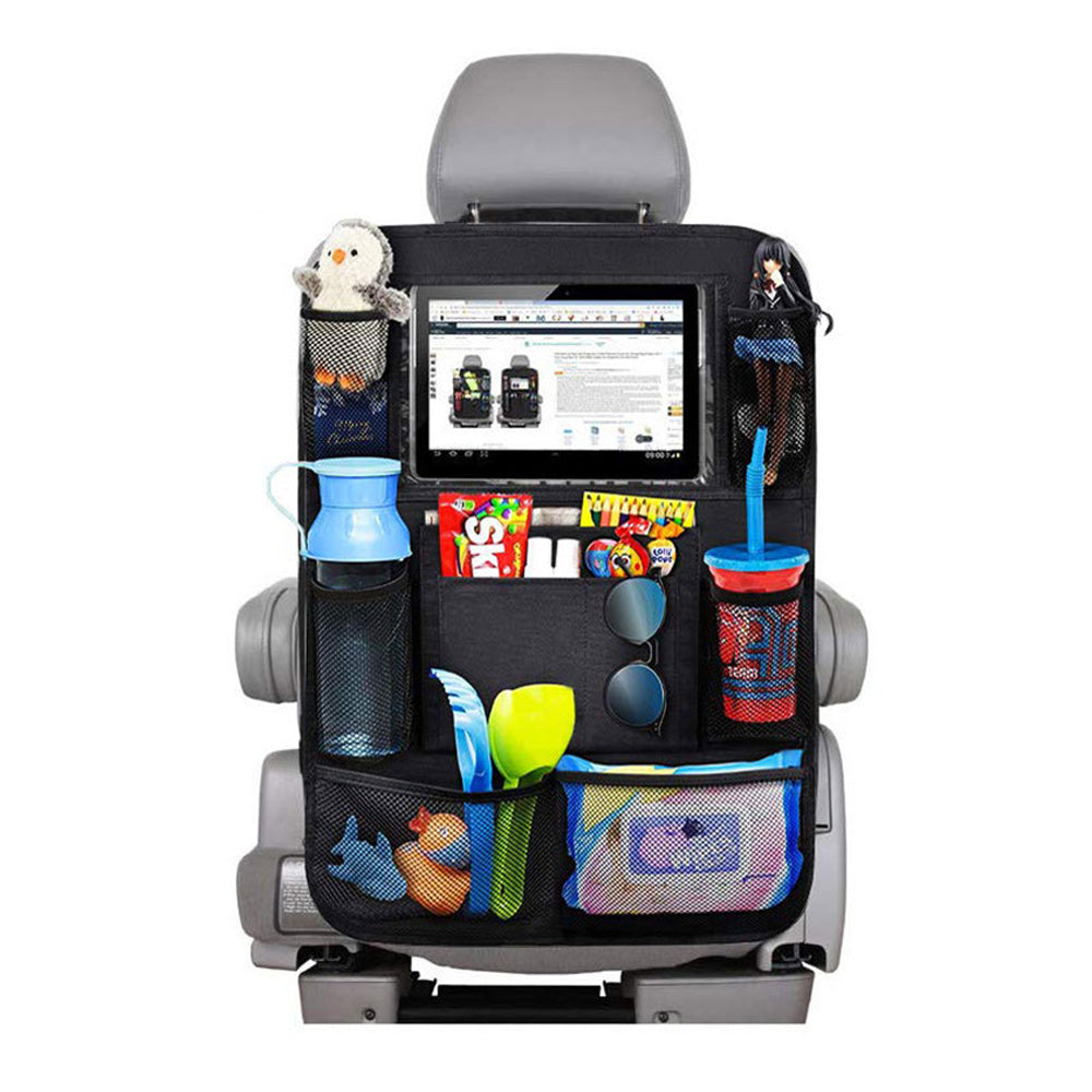 Car Backseat Organizer with Touch Screen Tablet Holder