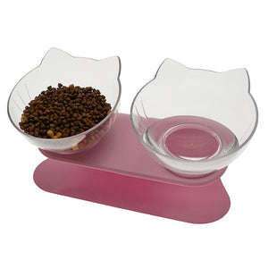 Non-slip Double Cat and Dog Bowl