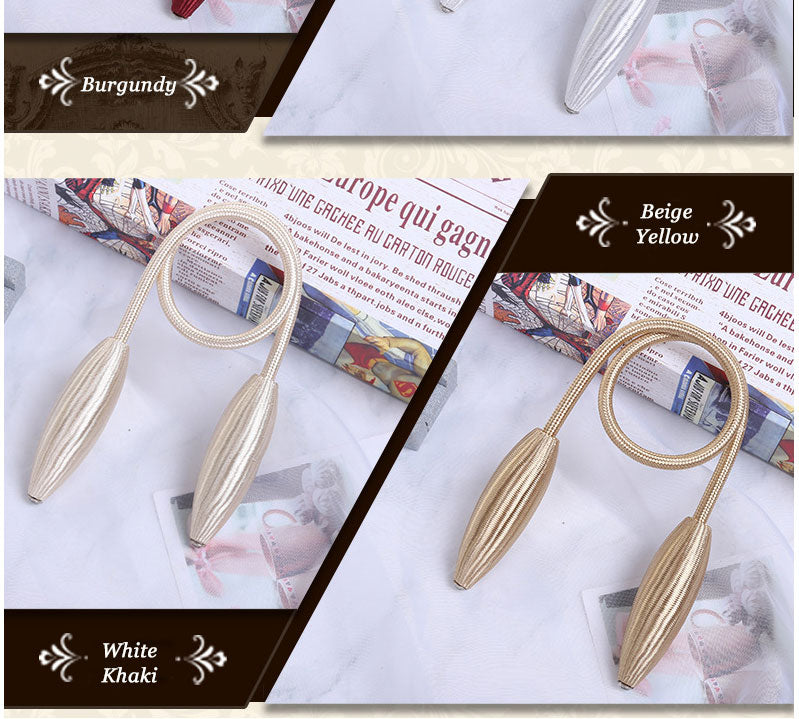 Magnetic Curtain Tiebacks Tie Rings Curtain Clip Rope