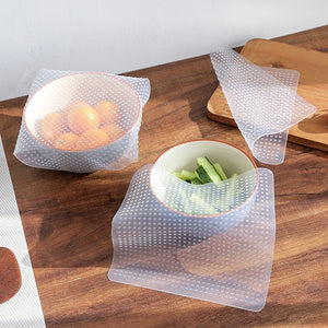 Reusable Silicone Stretch Wrap Seal Set