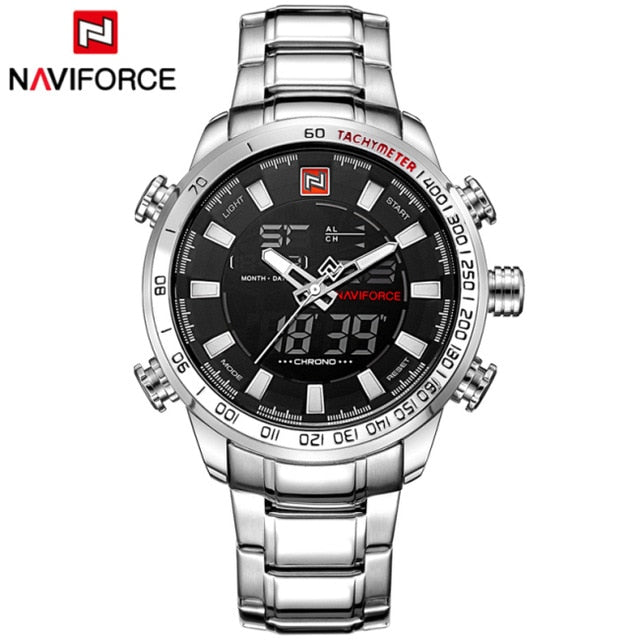 Top Brand Men Military Sport Watch Dual Display Water Resistant - systematicshop.com