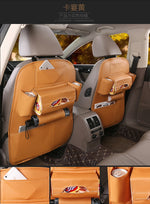 Multifunctional Waterproof Leather Car Seat Back Storage Bag - systematicshop.com