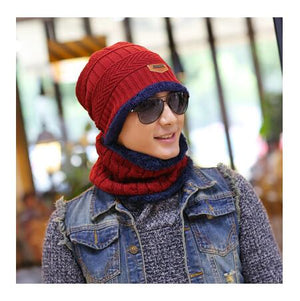 Warmer Winter Beanie Hat Knit Cap Scarf For Men And Women - systematicshop.com