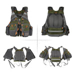 Waterproof Fishing Vest Breathable Waistcoat Survival Utility Outdoor Sports - systematicshop.com