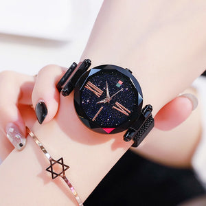 Luxury Waterproof Wristwatch Ladies Women Watches Starry Sky Magnetic Shock Resistant - systematicshop.com
