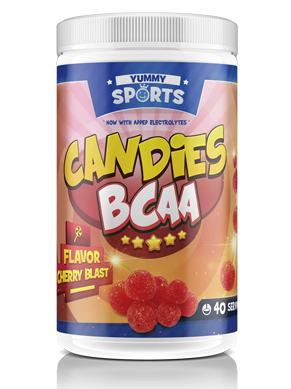 40 servings of candies bcaa by yummy sports