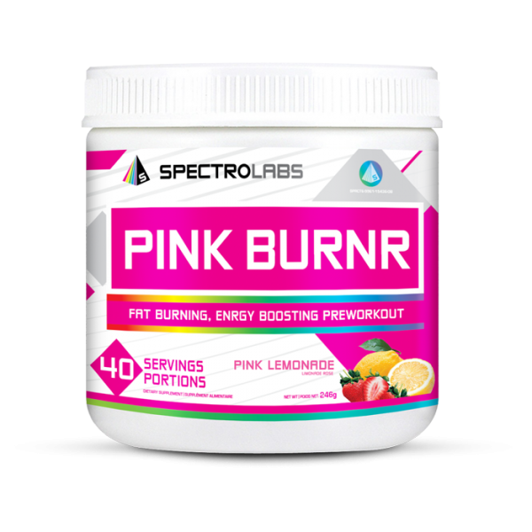 40 servings of pink burnr by spectro supplements