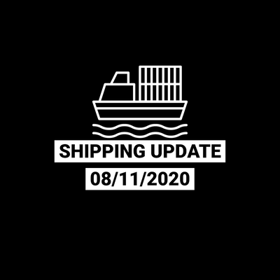 Shipping Update 8/11/2020