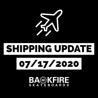 Shipping Update 7/17/2020
