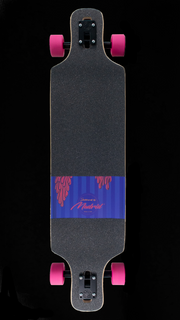 "Backfire DTF 39"" Flamingos Drop Through Longboard-Made in USA"
