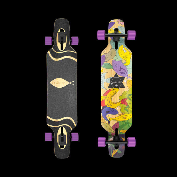 Backfire Drop Though Longboards- Discus Fish