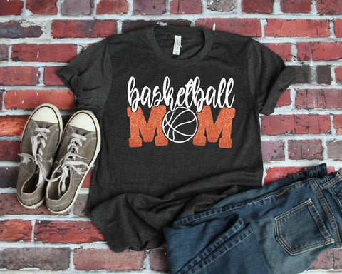 black Basketball Mom Shirt