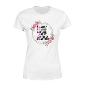 White shirt with quote - Gift for single mother