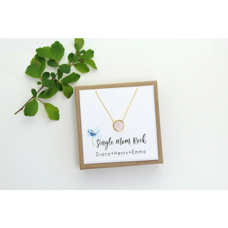 personalized necklace for single mom