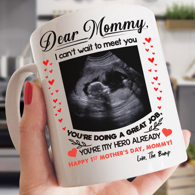 Personalized Happy 1St Mothers Day From The Bump Mug Gsge