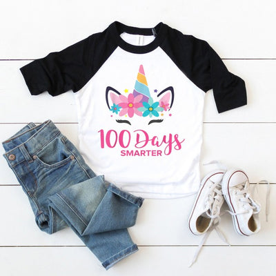 100 days of school shirt unicorn girls costume t-shirt for kids for teachers - GST