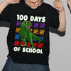 100th day of school - 100th day dinosaur counting hash mark t-shirt - GST