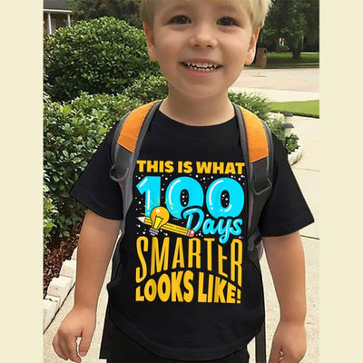 G4 - 100 days of school no probllama funny llama t-shirt for kids for teachers - GST