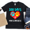 100th day of school - 100th day of pawsomeness student teacher shirt - GST