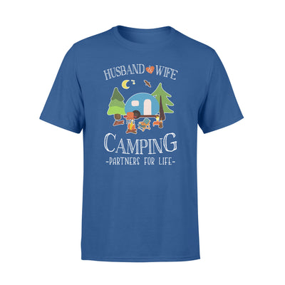 Husband wife camping partners for life tshirt - gifts for camping lovers