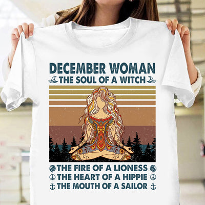 The Soul of a witch hippie December woman yoga shirt Gsge - Standard T-shirt