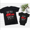 G3 Personalized Our First Father's Day Bear Daddy And Me Matching Shirt - Dad And Baby Gift Gsge