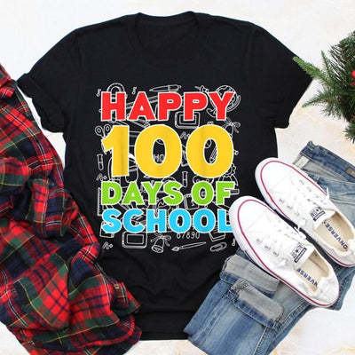 Happy 100 days of school t-shirt 100th day of school gift t-shirt for teachers for kids - GST