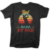 Best Papa By Par Golf Retro Shirt Gift For Grandfather