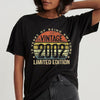 18 years of being awesome vintage 2002 limited edition 18th birthday t-shirt - GST
